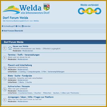 Dorf Forum Welda