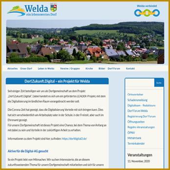 Homepage Welda